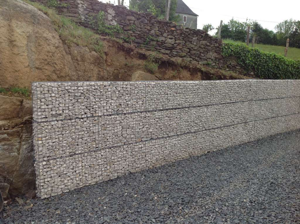 Mur grillage rempli cailloux great gabion xx rempli pierre galiniere with mur grillage rempli - Grillage pour gabion ...