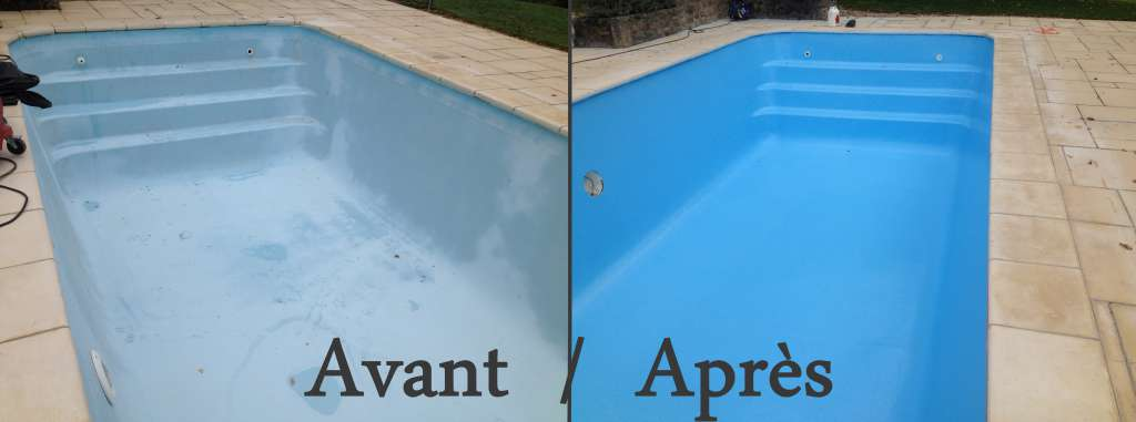 Rev tement r sine polyester r sine polyur thane brive for Remplacement liner par resine piscine